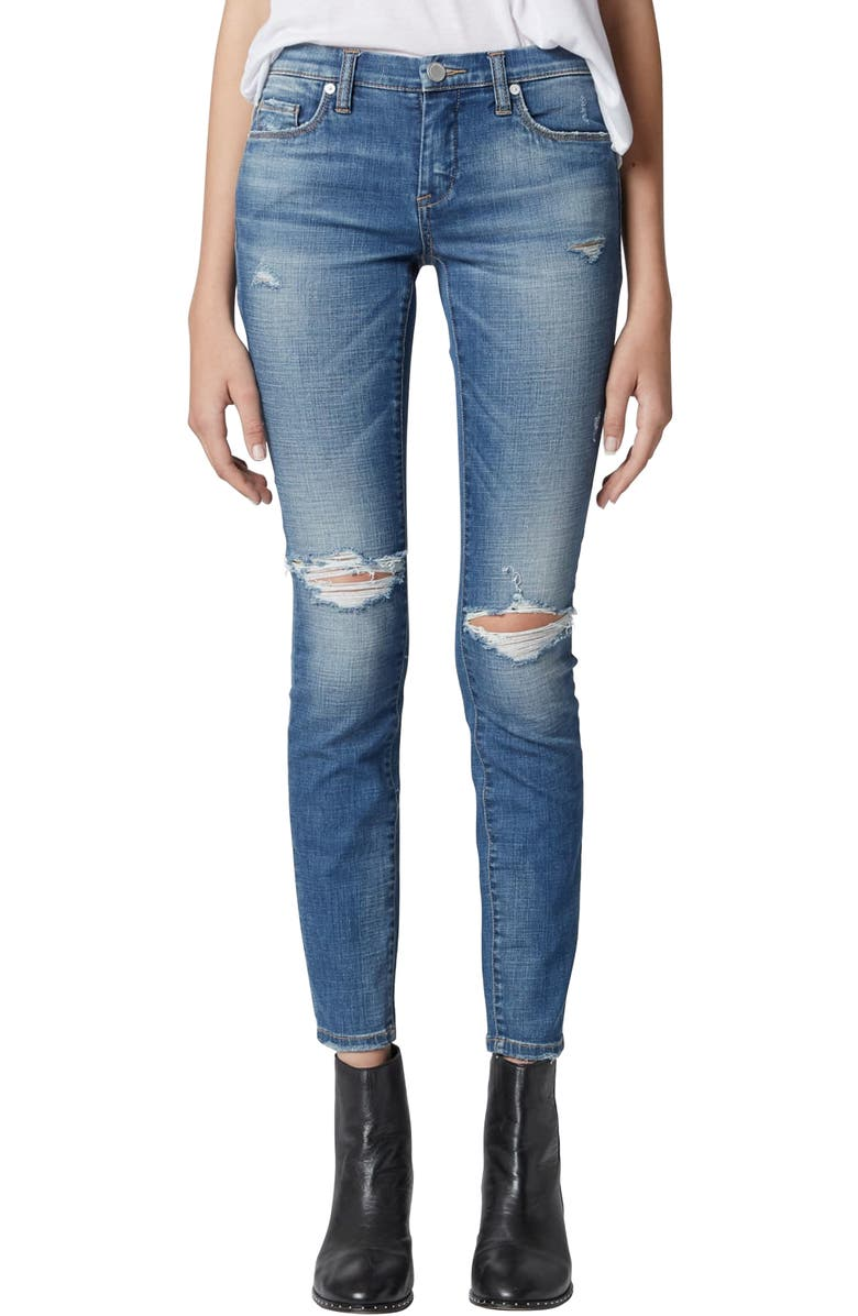 BLANKNYC The Reade Ripped Skinny Jeans, Main, color, AROUND TOWN