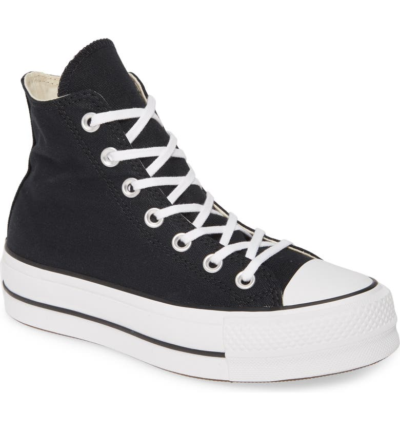 CONVERSE Chuck Taylor<sup>®</sup> All Star<sup>®</sup> Lift High Top Platform Sneaker, Main, color, BLACK/ WHITE/ WHITE