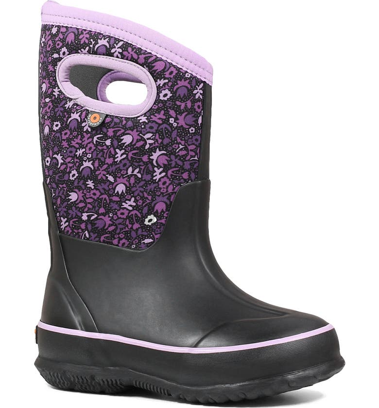 BOGS Classic Freckle Flower Insulated Waterproof Boot, Main, color, 009