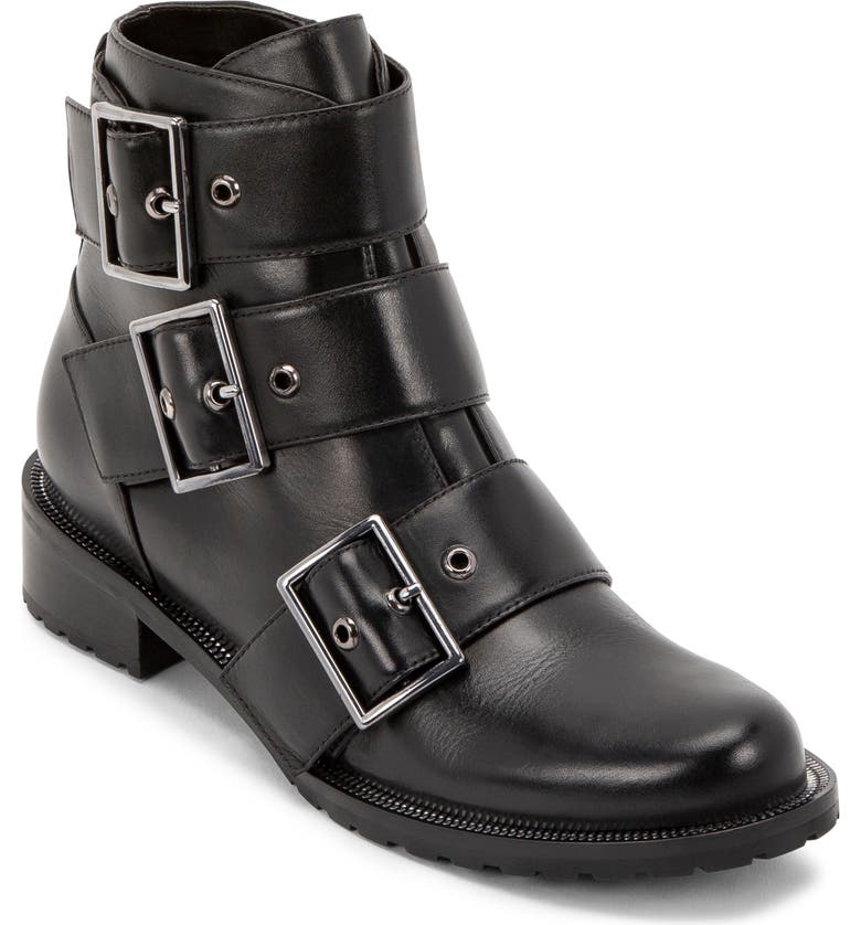 BLONDO Camila Waterproof Bootie, Main, color, BLACK LEATHER