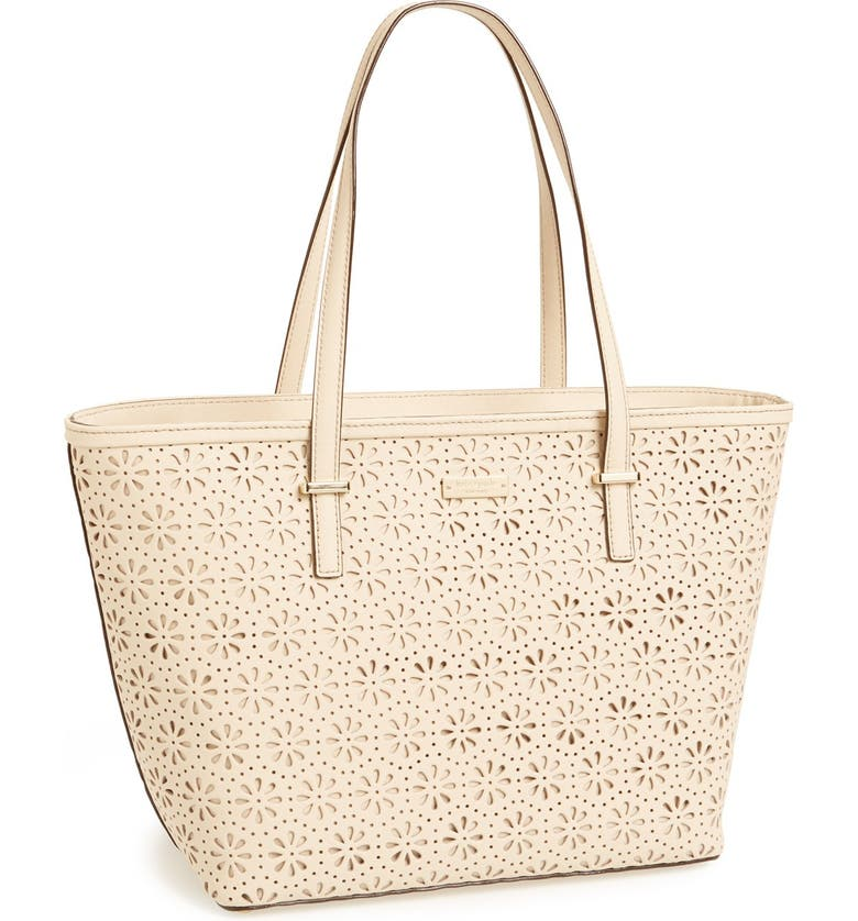 KATE SPADE NEW YORK 'small cedar street - harmony' perforated leather tote, Main, color, 123