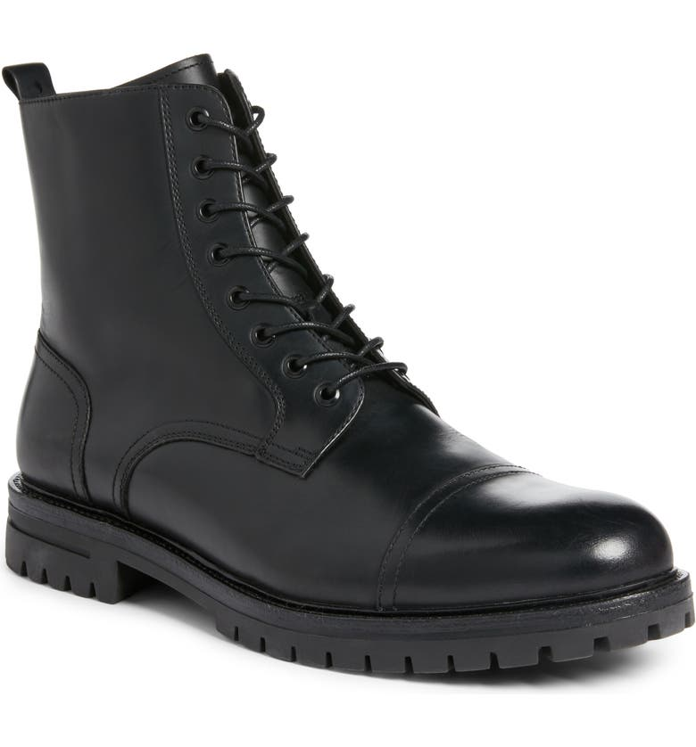 BP. Burbank Cap Toe Boot, Main, color, BLACK