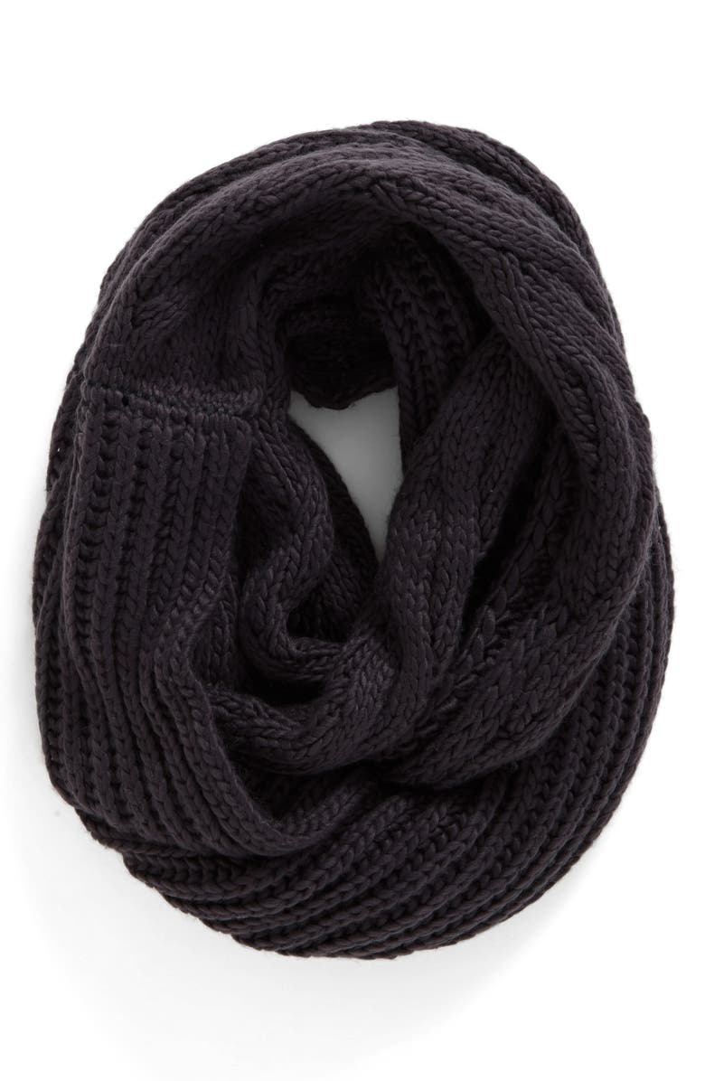 BP. Cable Knit Infinity Scarf, Main, color, 021