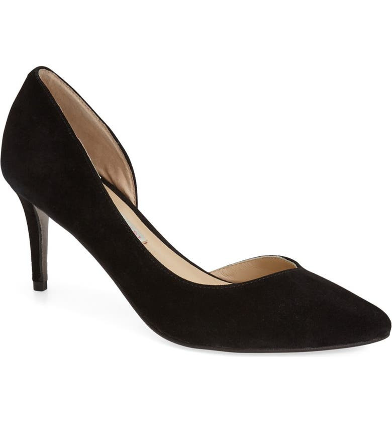 KRISTIN CAVALLARI 'Oracle' half d'Orsay Pump, Main, color, 001
