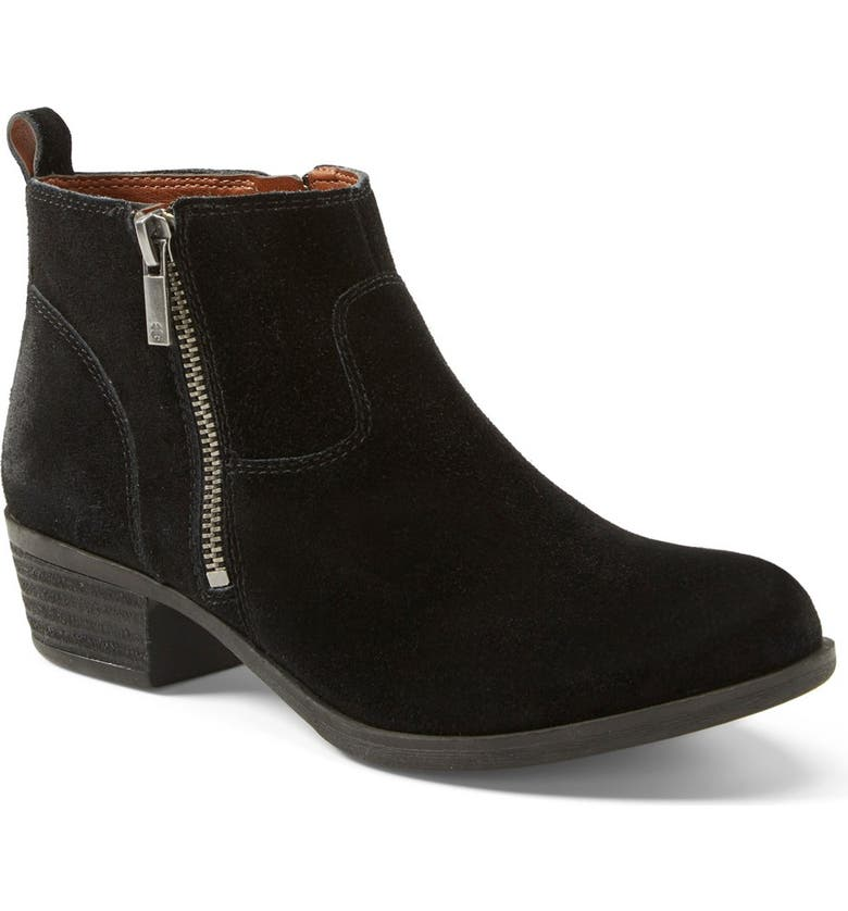 LUCKY BRAND 'Betwixt' Bootie, Main, color, BLACK OILED SUEDE