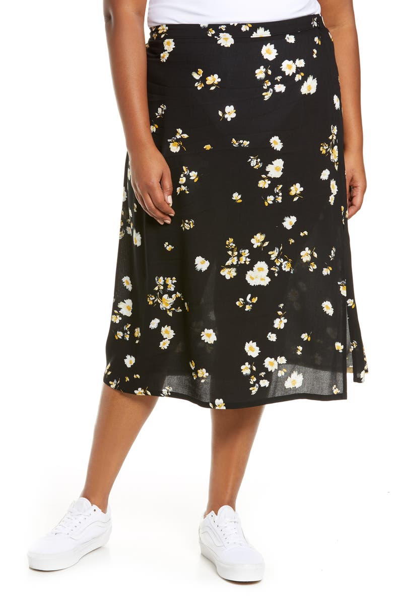 BP. Printed Midi Skirt, Main, color, 001
