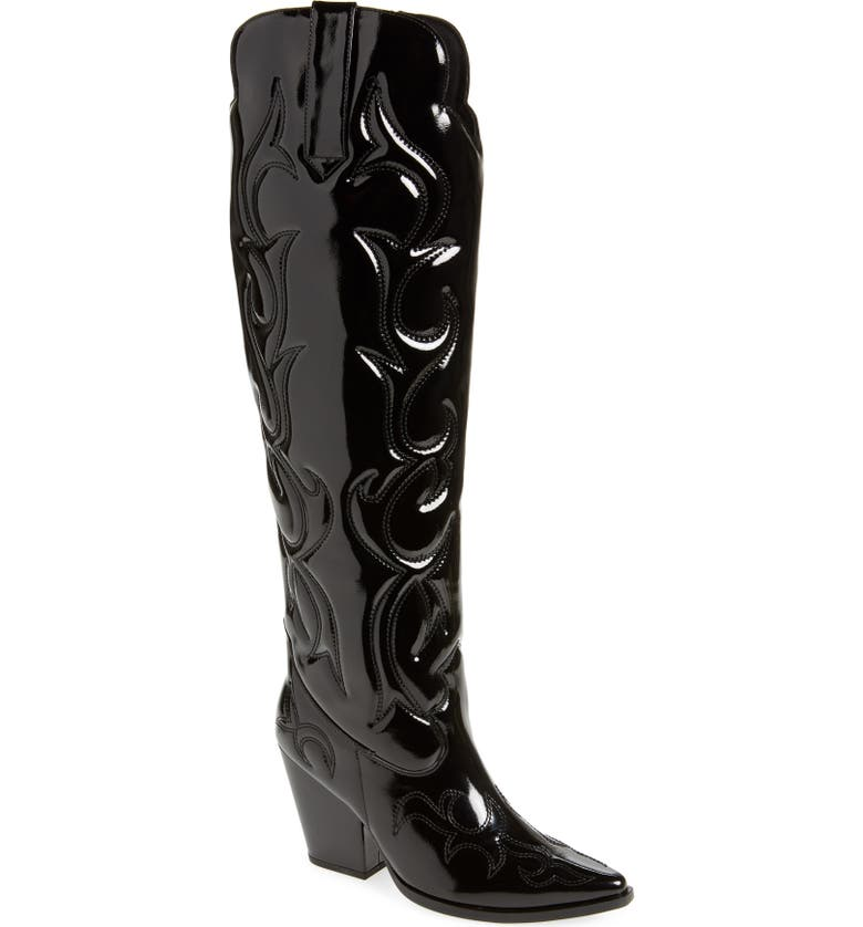 JEFFREY CAMPBELL Amigos Over the Knee Western Boot, Main, color, 012