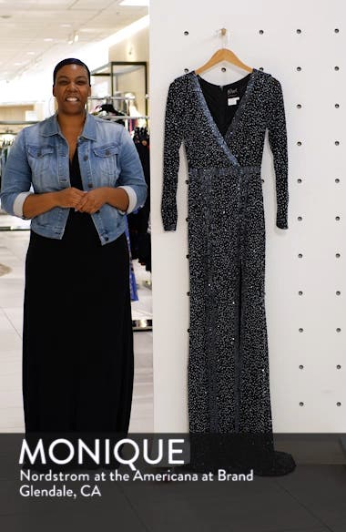 Long Sleeve Beaded Gown, sales video thumbnail