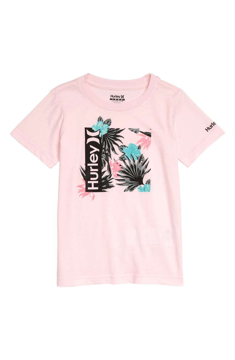HURLEY Fill Box Graphic Tee, Main, color, ARCTIC PINK