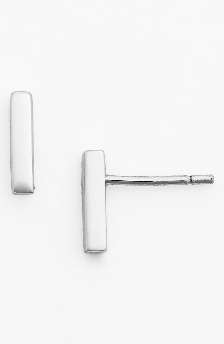 ARGENTO VIVO STERLING SILVER Argento Vivo Bar Stud Earrings, Main, color, Silver