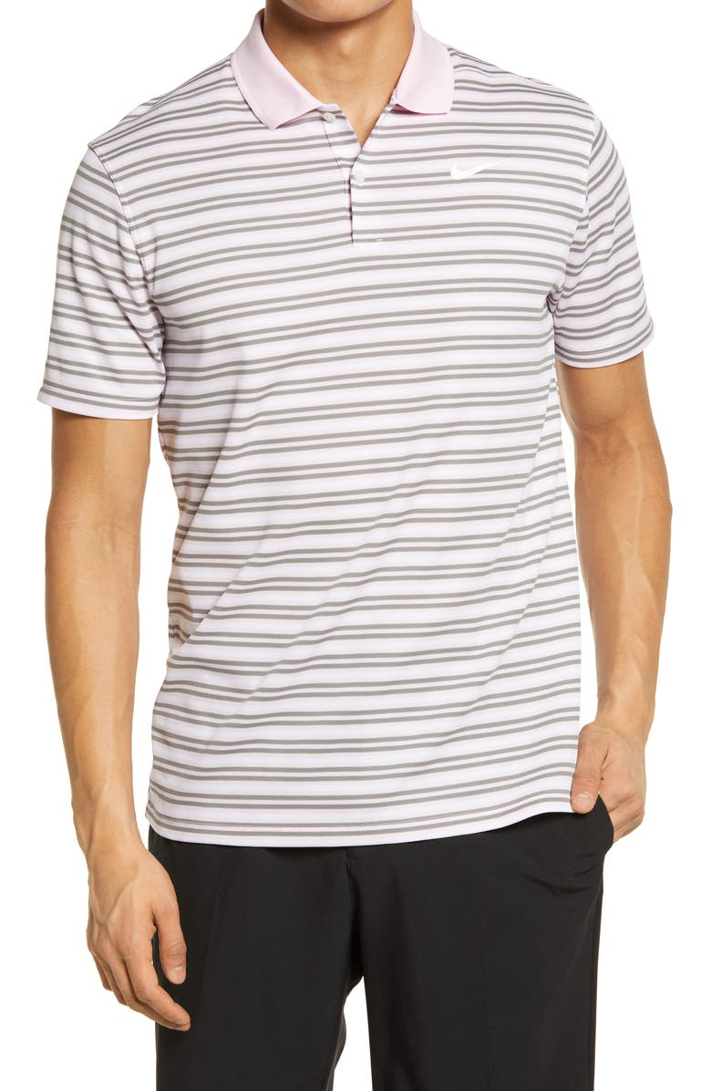 NIKE GOLF Dri-Fit Victory Polo Shirt, Main, color, PINK FOAM / DUST/ WHITE/ WHITE