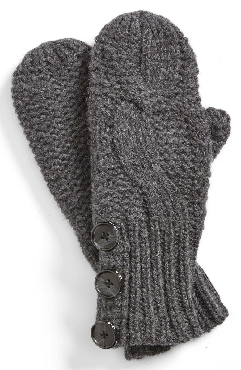 LOLE Cable Knit Mittens, Main, color, 001
