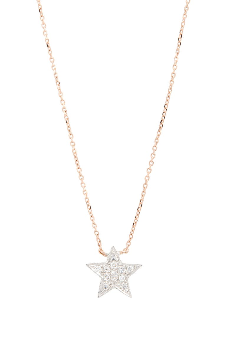 DANA REBECCA DESIGNS 'Julianne Himiko' Diamond Star Pendant Necklace, Main, color, ROSE GOLD/ WHITE GOLD