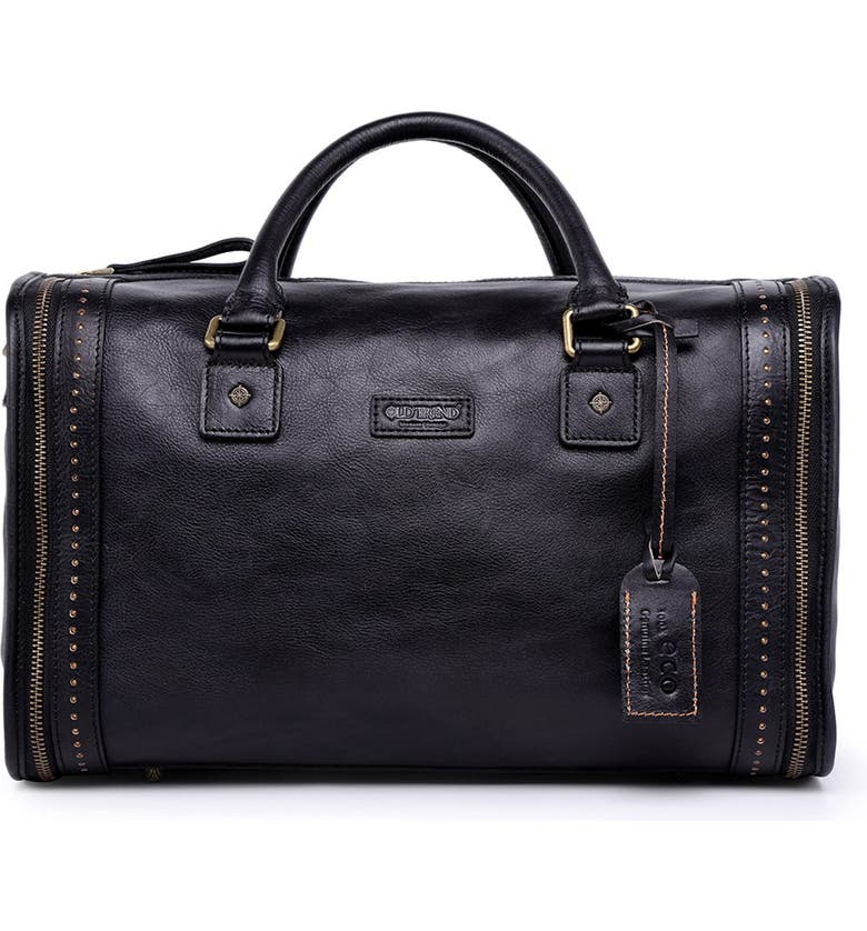 OLD TREND Cambria Leather Satchel Bag, Main, color, BLACK