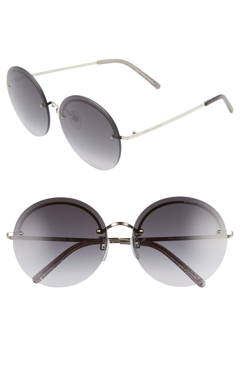 THE MARC JACOBS 60mm Round Sunglasses, Main, color, 040