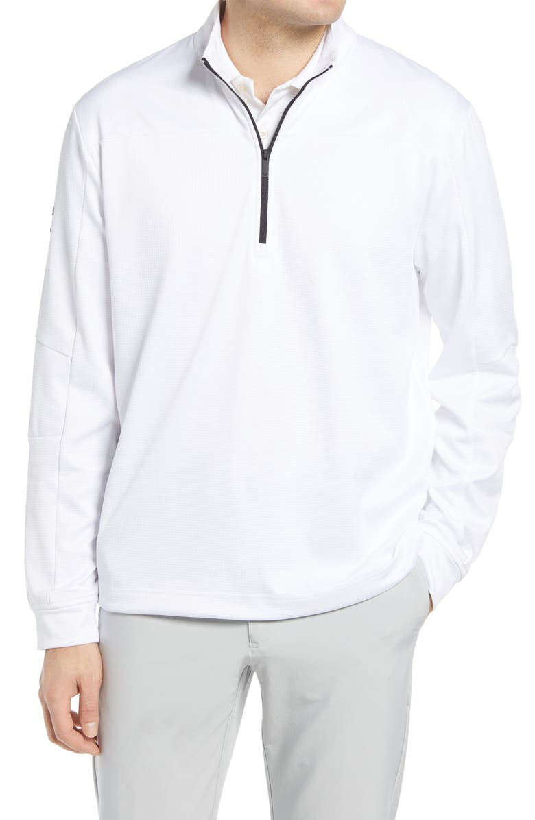 CALLAWAY GOLF<SUP>®</SUP> Waffle Fleece Quarter Zip Pullover, Main, color, BRIGHT WHITE