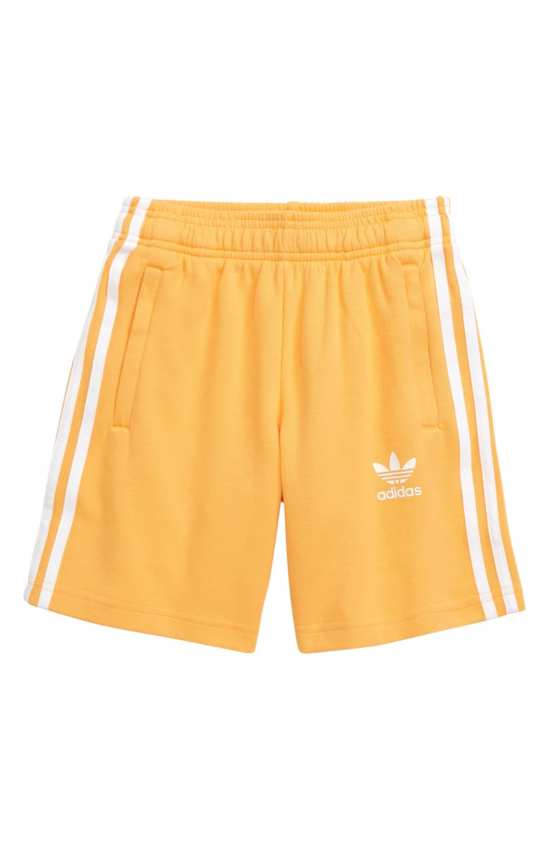 ADIDAS ORIGINALS Three Stripe Athletic Shorts, Main, color, 700