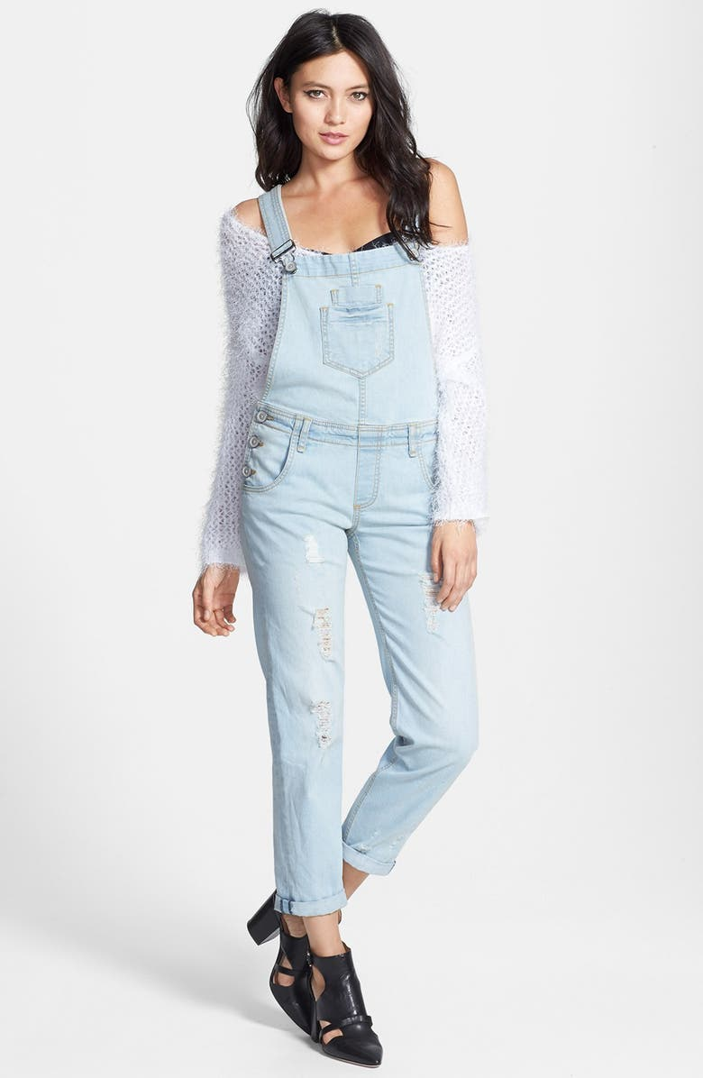 EDYSON Destroyed Overalls, Main, color, DECONSTRUCTED LIGHT WASH