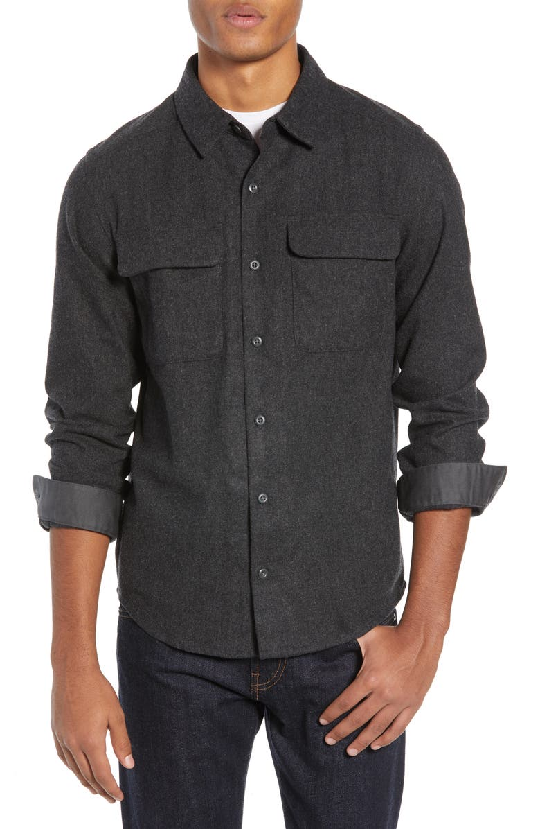 PATAGONIA Recycled Wool Blend Shirt, Main, color, 020