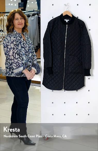 Longline Quilted Bomber Jacket, sales video thumbnail