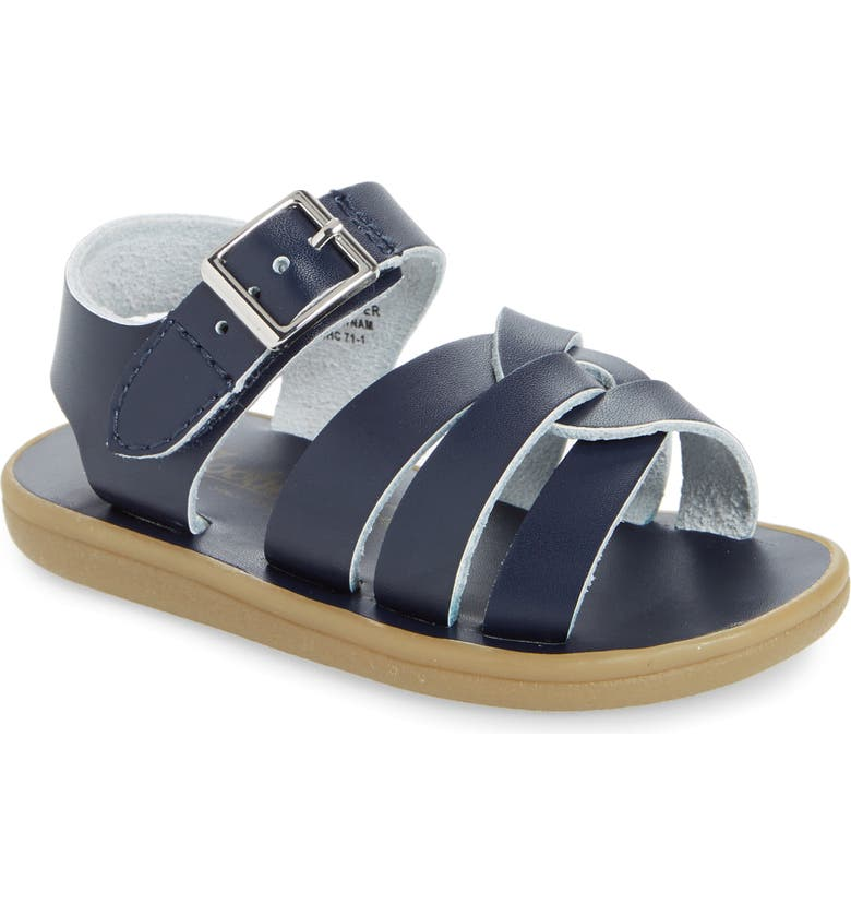 FOOTMATES Wave Waterproof Sandal, Main, color, NAVY