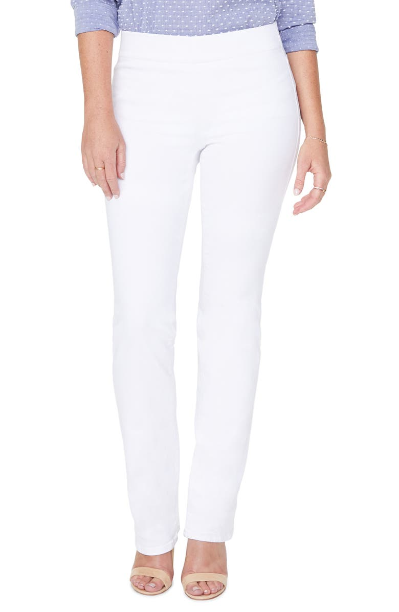 NYDJ High Waist Pull-On Straight Leg Jeans, Main, color, 103