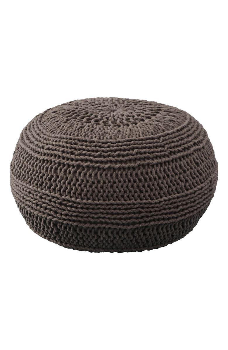 RIZZY HOME Woven Pouf, Main, color, 230