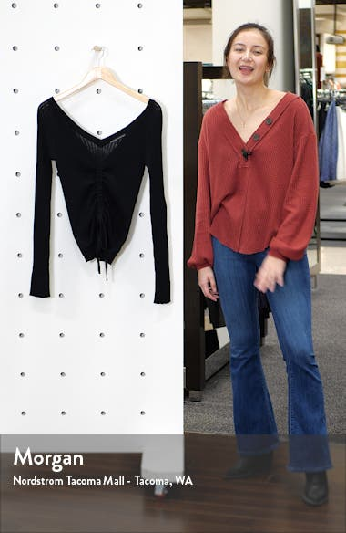 Ruched Drawstring Sweater, sales video thumbnail