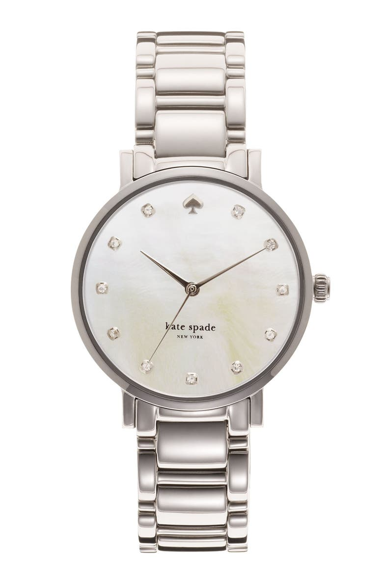 KATE SPADE NEW YORK 'gramercy' crystal marker watch, 34mm, Main, color, 040