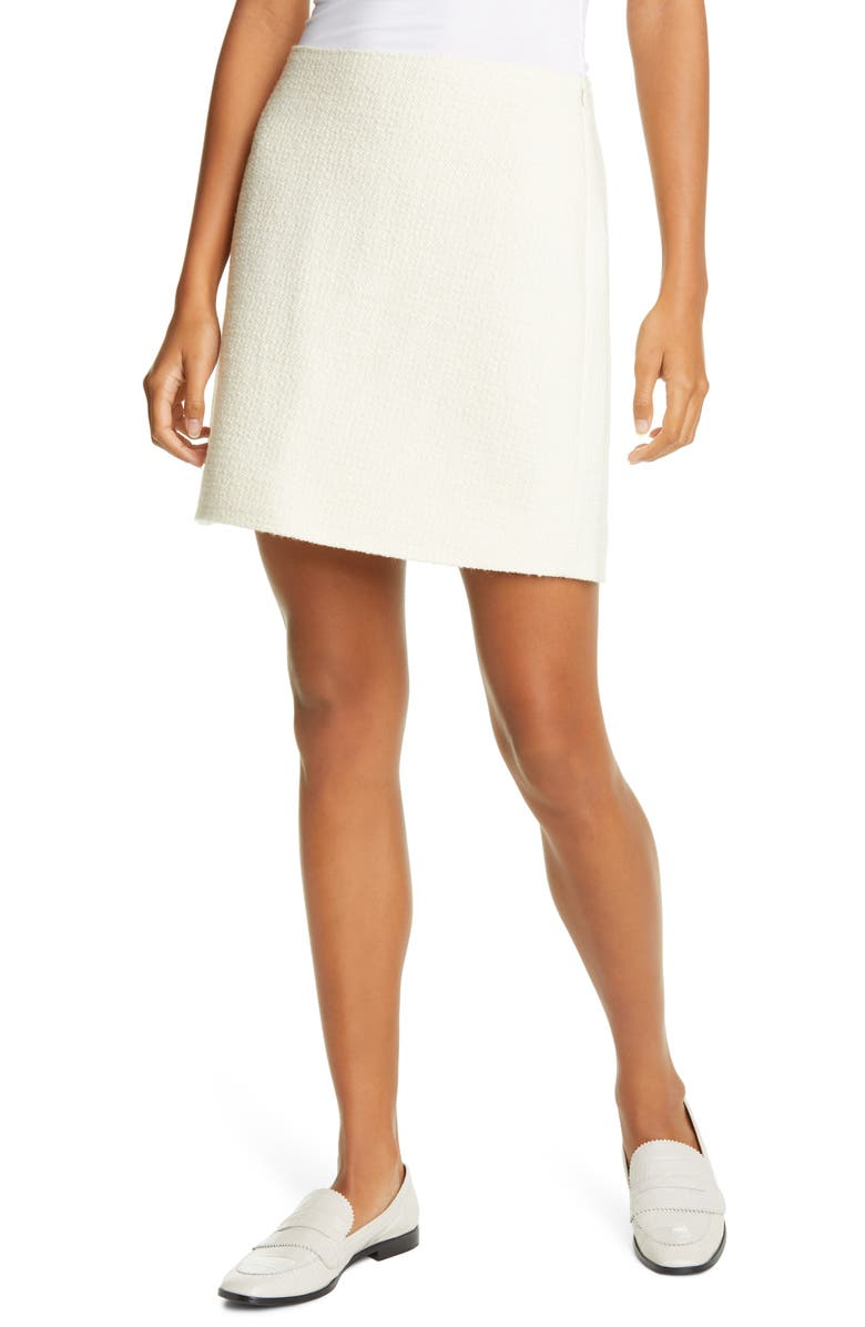 CLUB MONACO Centie Knit Houndstooth Skirt, Main, color, IVORY