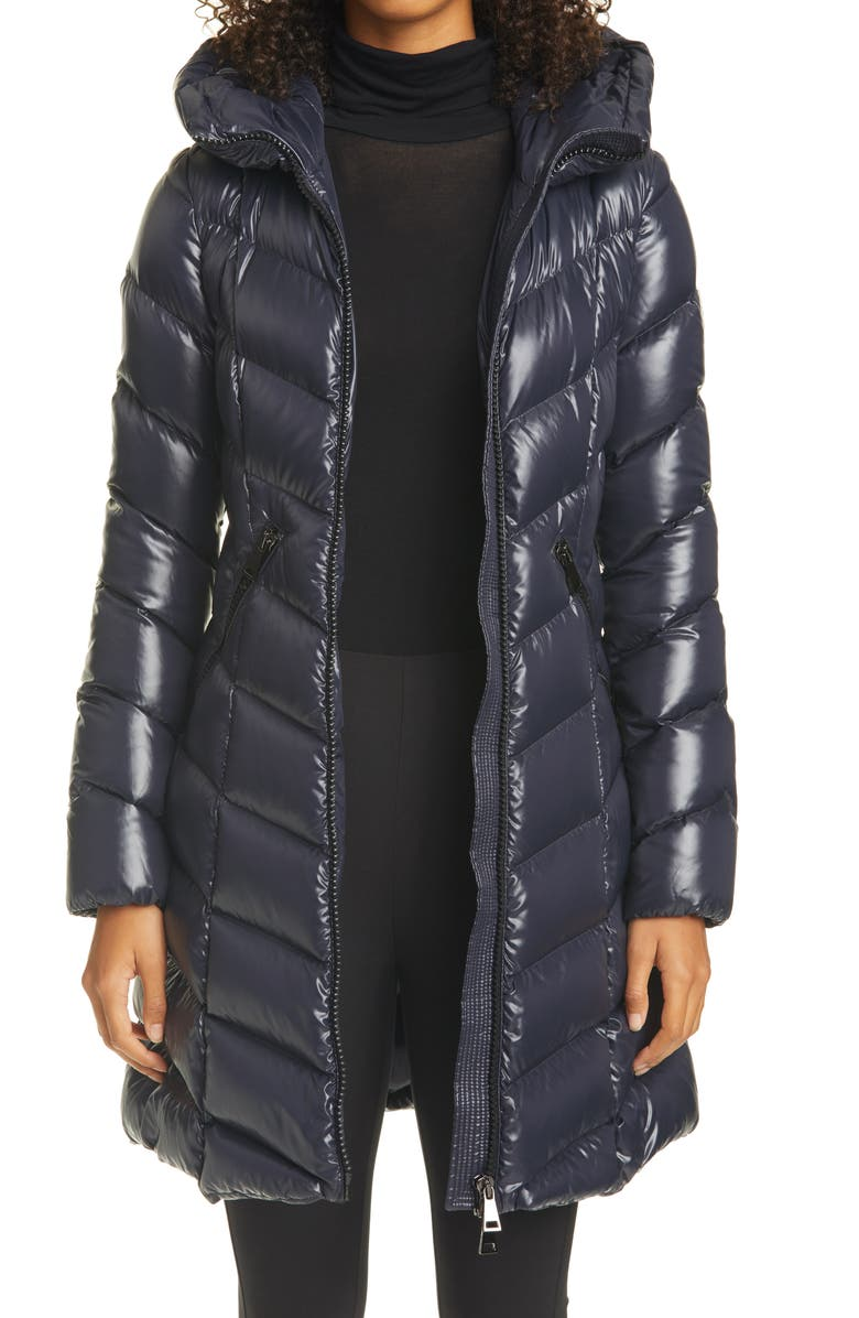 MONCLER Marus Water Resistant Down Puffer Coat, Main, color, 742 NAVY