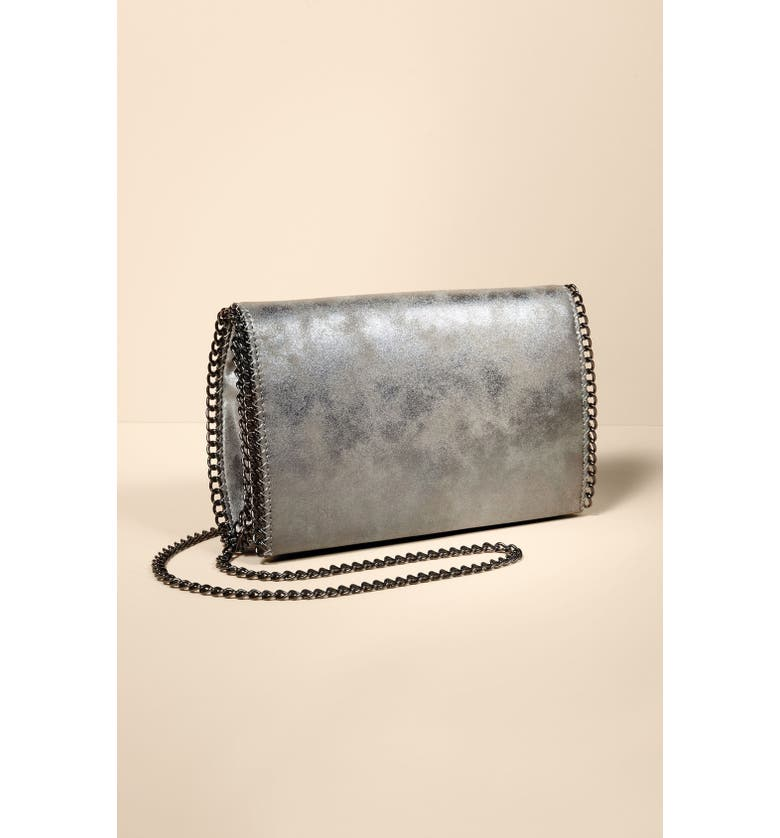 CHELSEA28 Faux Leather Crossbody Clutch, Main, color, 043