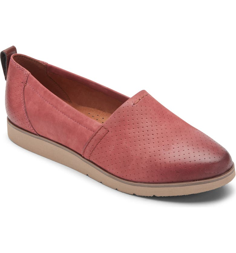 ROCKPORT Cobb Hill Laci Loafer, Main, color, ROSEWOOD NUBUCK LEATHER