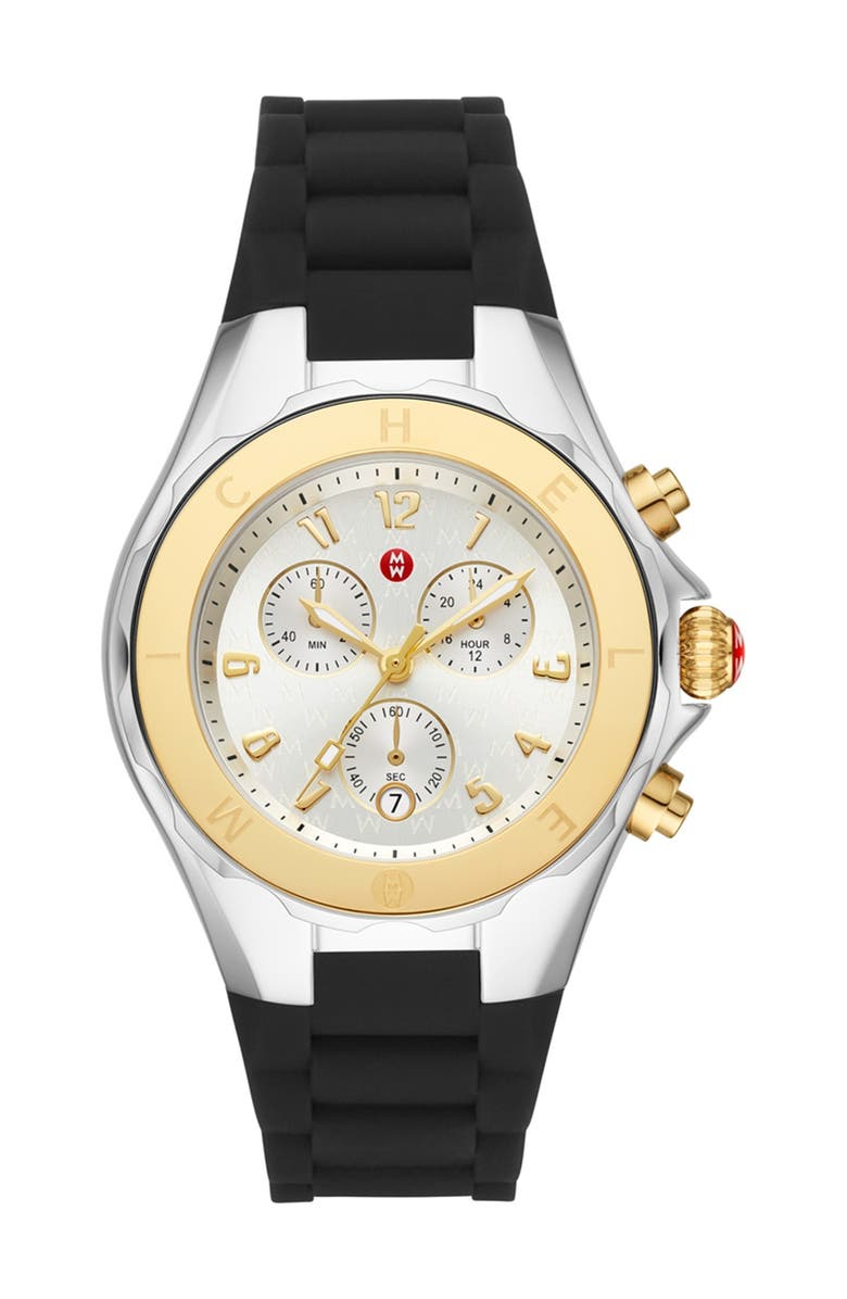 MICHELE Women's Black Tahitan Jelly Bean Watch, 40mm, Main, color, NO COLOR