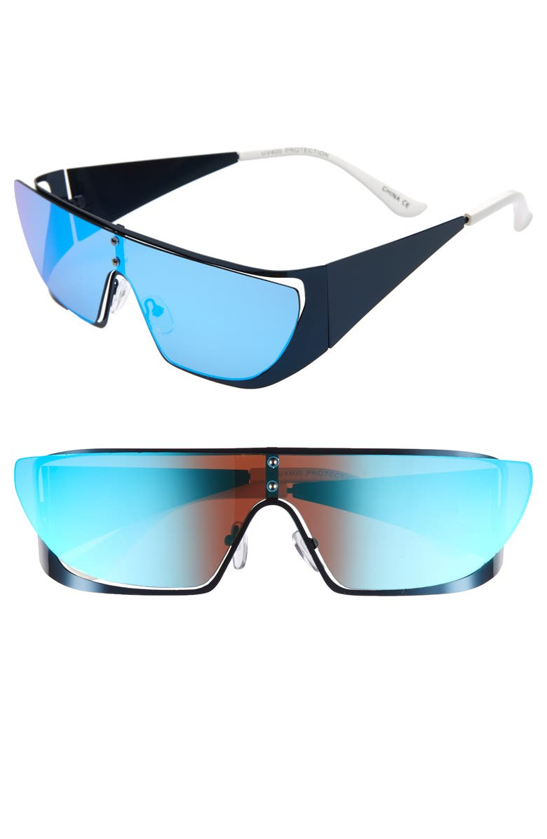 RAD + REFINED Sport Shield Sunglasses, Main, color, 001