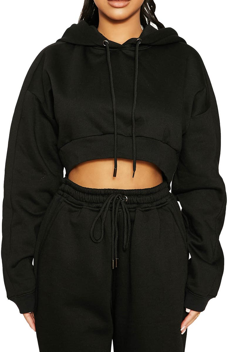 NAKED WARDROBE All Good In The Hoodie, Main, color, BLACK