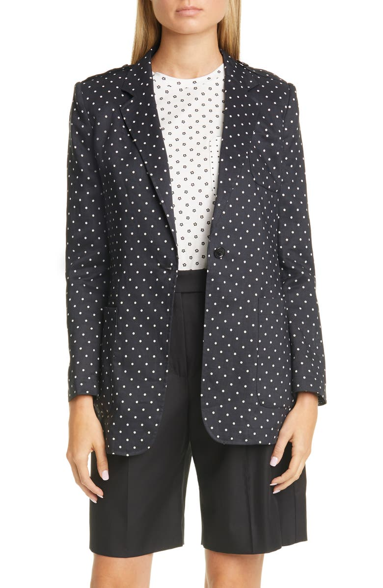MAX MARA Pittore Polka Dot Jacket, Main, color, 001