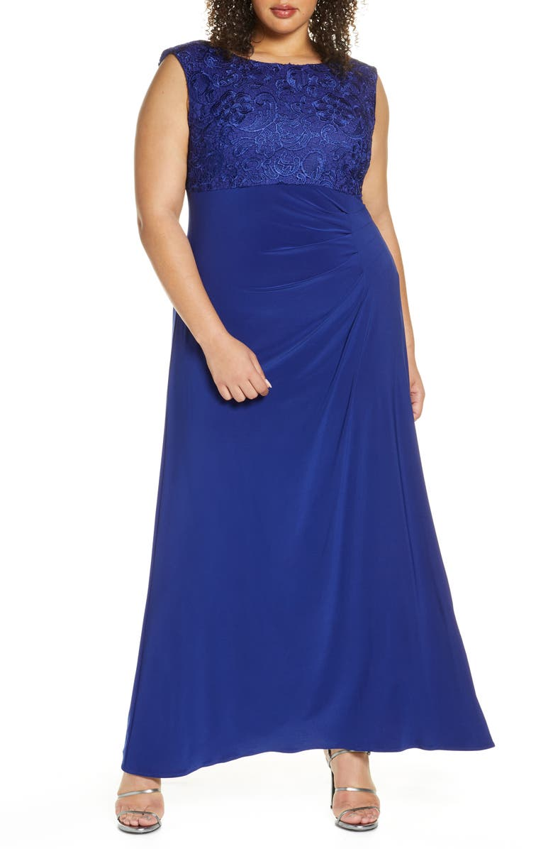 ALEX EVENINGS Cowl Back Gown, Main, color, 461
