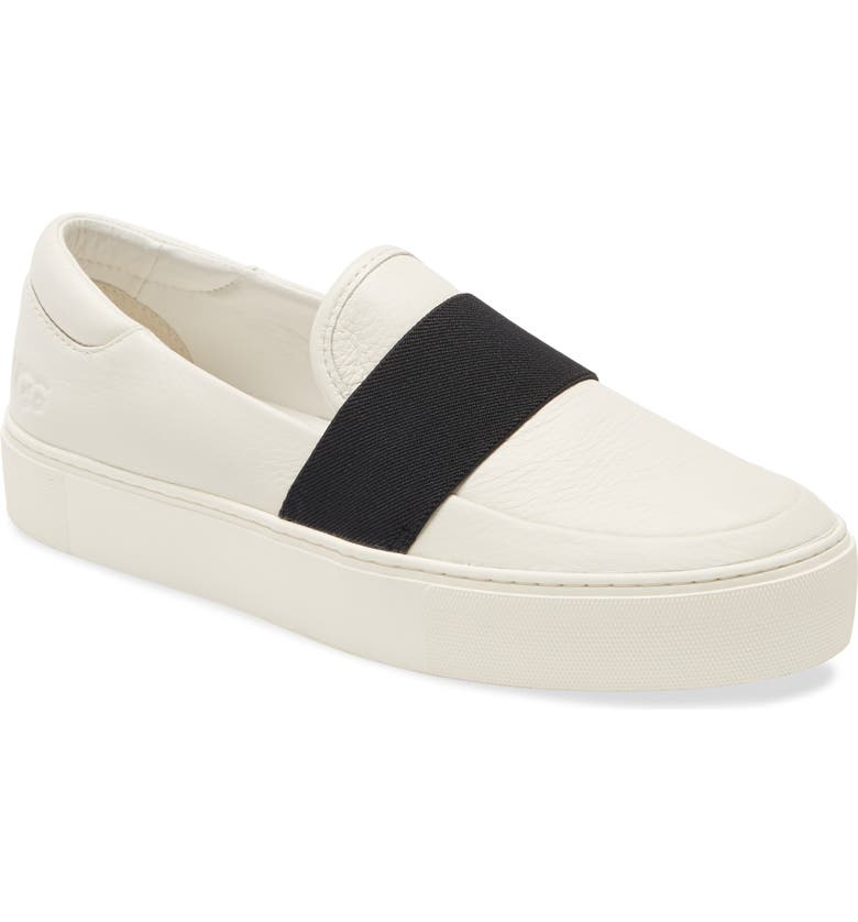 UGG<SUP>®</SUP> Chayze Platform Sneaker, Main, color, WHITE/ BLACK LEATHER