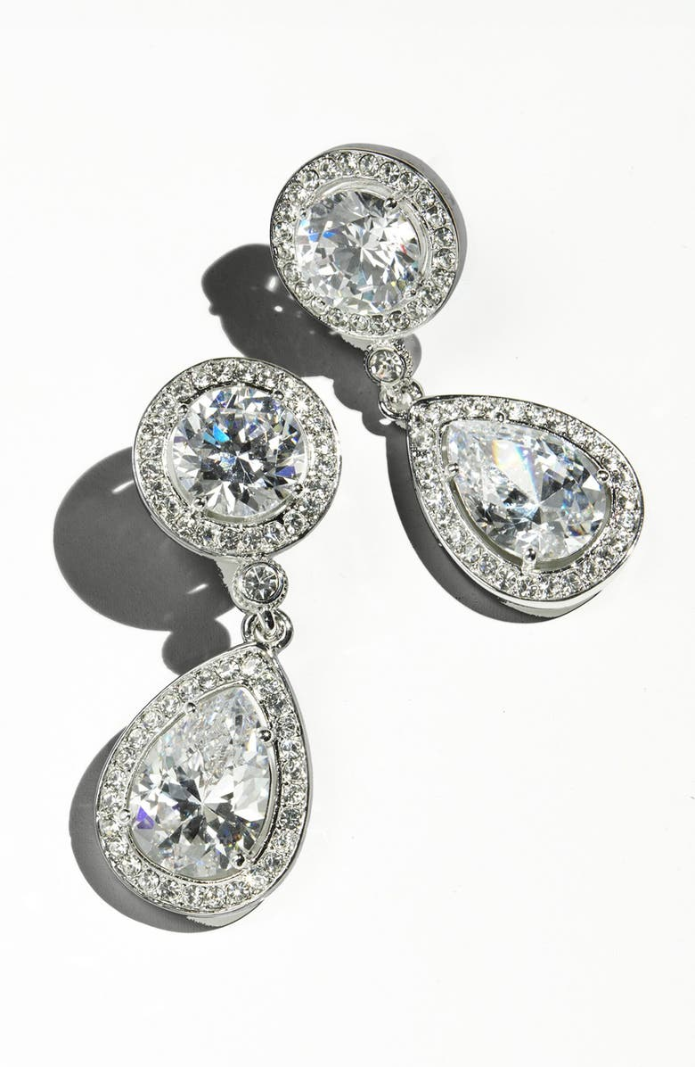 NADRI Crystal & Cubic Zirconia Drop Earrings, Main, color, 966