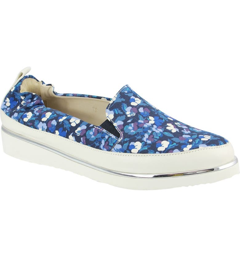 RON WHITE Nell Floral Slip-On Sneaker, Main, color, ROYAL