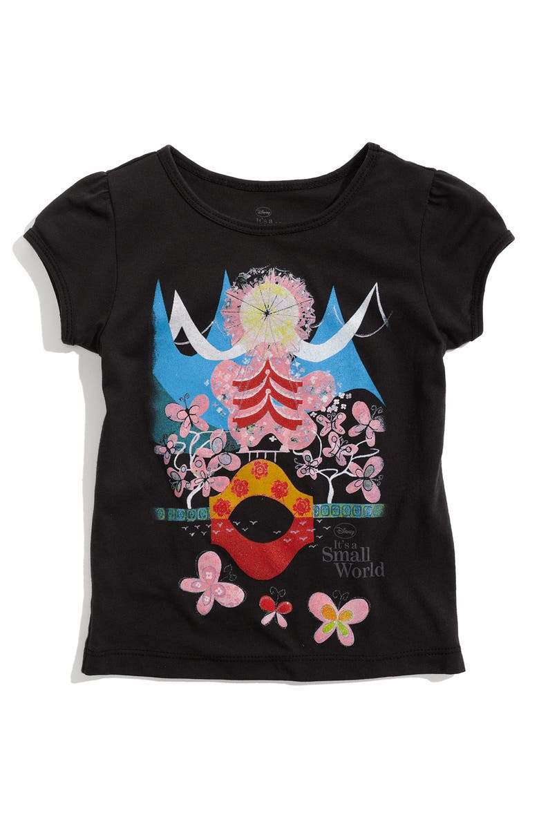 DISNEY, IT'S A SMALL WORLD Puff Sleeve Tee, Main, color, 001