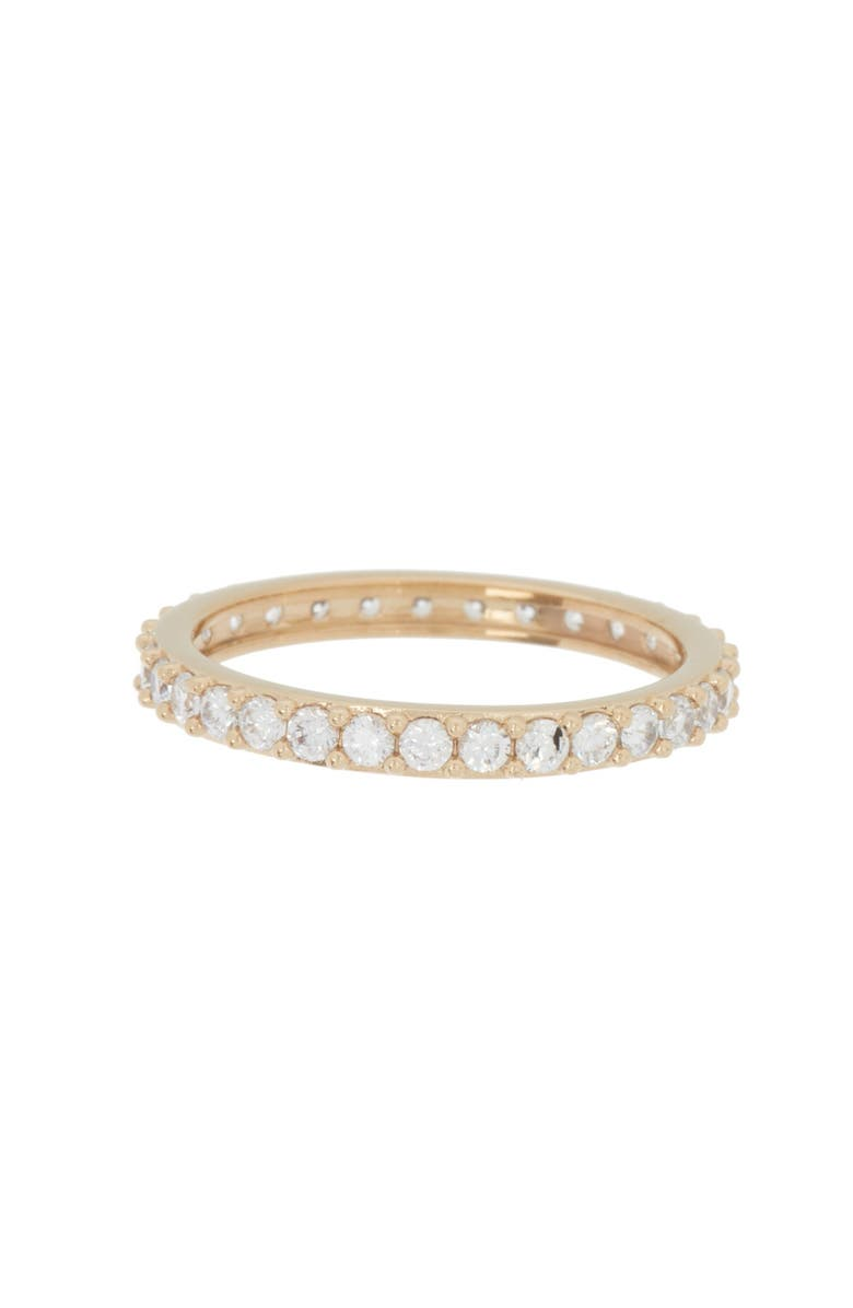 NADRI CZ Eternity Band Ring - Size 8, Main, color, GOLD