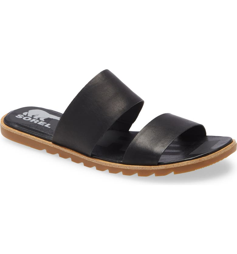 SOREL Ella II Slide Sandal, Main, color, BLACK