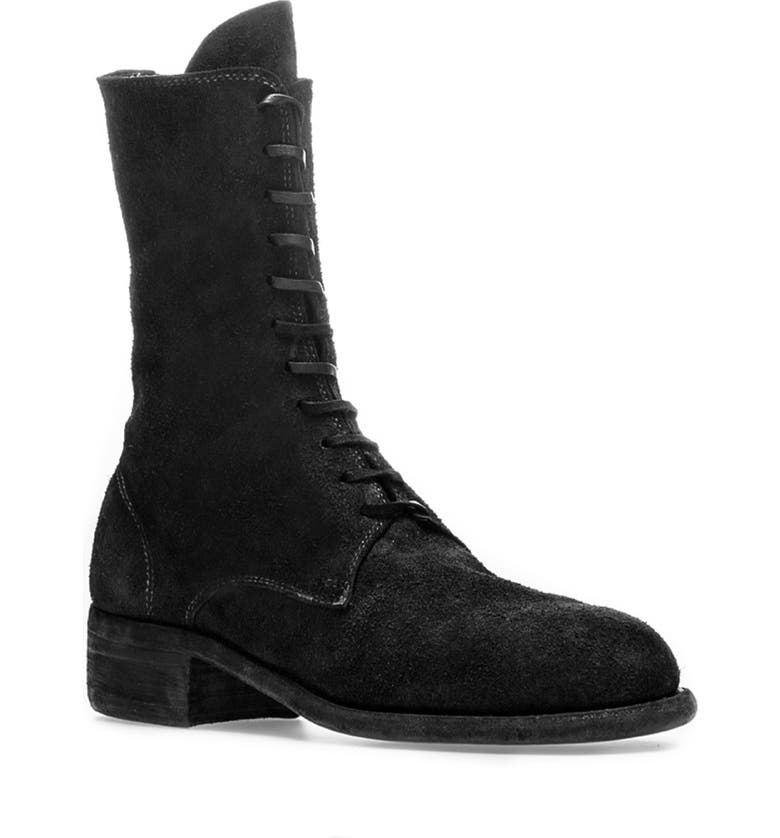GUIDI Tall Lace-Up Boot, Main, color, 001