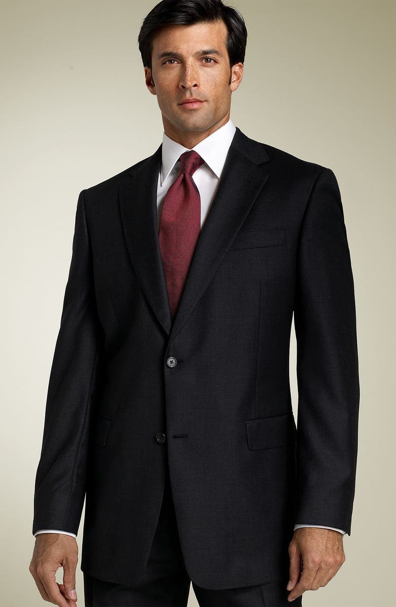 HART SCHAFFNER MARX 'Capital Collection' Grey Wool Suit, Main, color, GREY