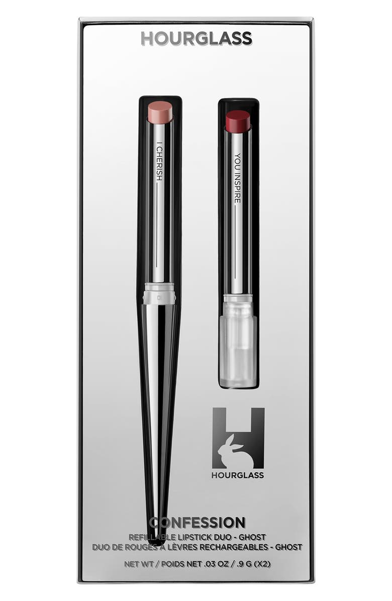 HOURGLASS Full Size Confession Ultra Slim Refillable Lipstick Set, Main, color, 000