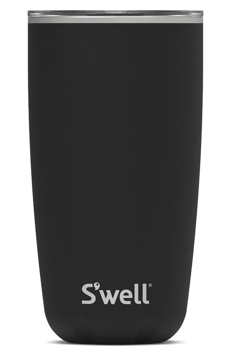S'WELL 18-Ounce Insulated Stainless Steel Tumbler, Main, color, ONYX