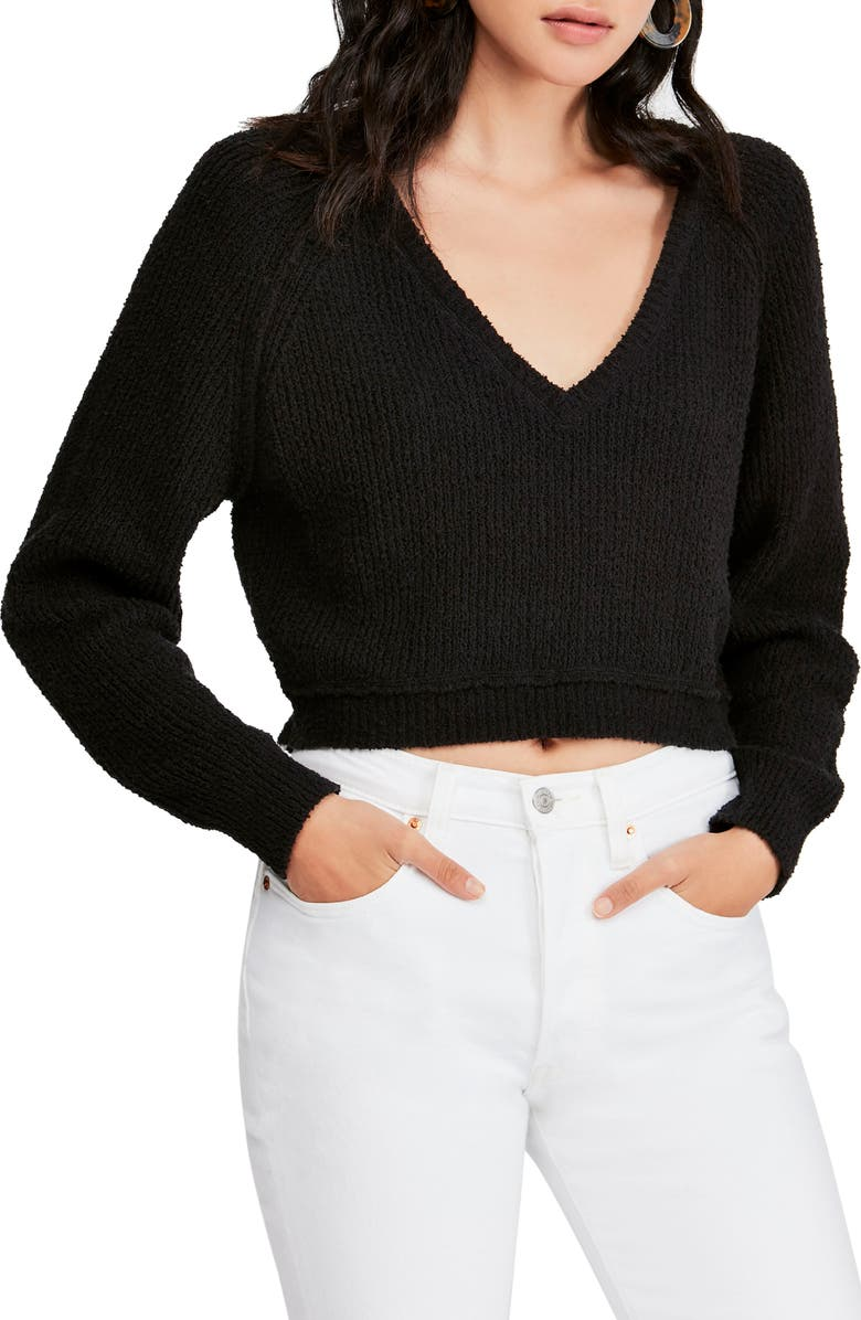 FREE PEOPLE V-Neck Sweater, Main, color, 001