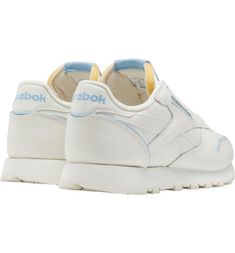 REEBOK Classic Leather Sneaker, Main, color, CHALK/CHALK/WASIND